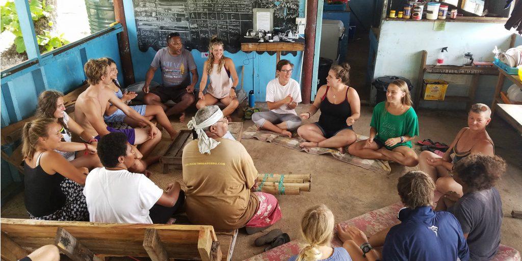 volunteers doing ethical volunteering on a community development program