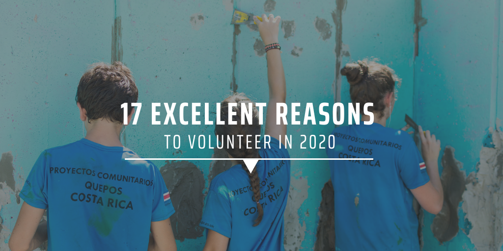 17 excellent reasons to volunteer in 2020