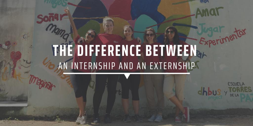 The difference between an internship and an externship