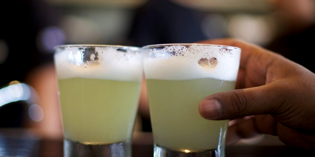 Pisco sours is the national drink in Peru.