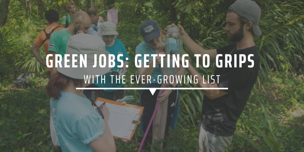 Green jobs: Getting to grips with the ever-growing list