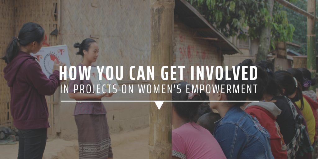 How can you get involved in projects on women's empowerment