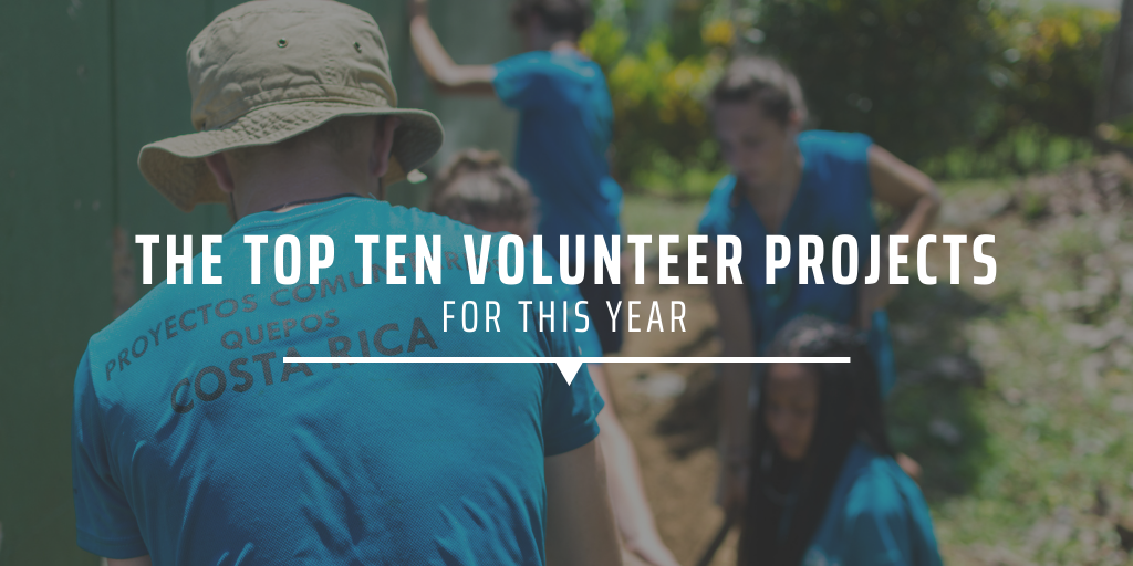 The top ten volunteer projects for this year