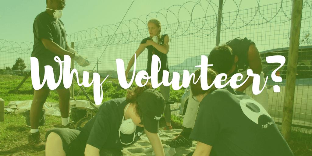 Why volunteer