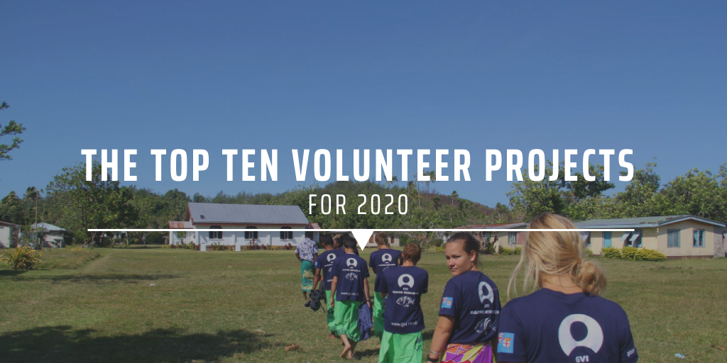 The top ten volunteer projects for 2020