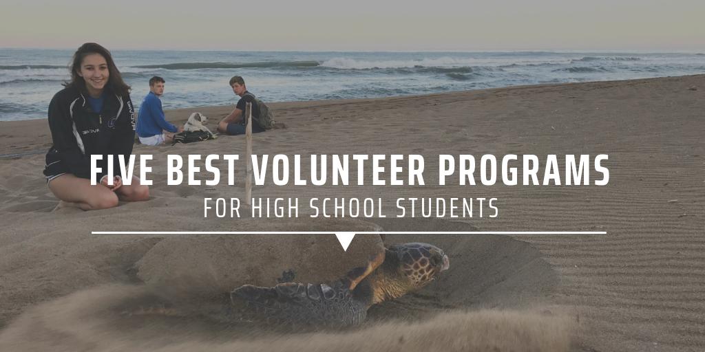 Best volunteer programs for high school students
